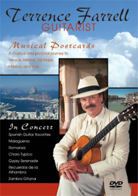 DVD, Terrence Farrell , classical guitarist